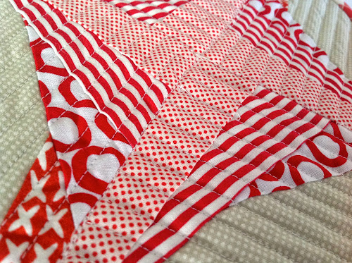 how to cut long strips of fabric for quilting