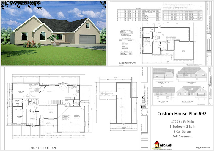 House And Cabin Plans Plan 97 Custom Home Design Dwg And Pdf