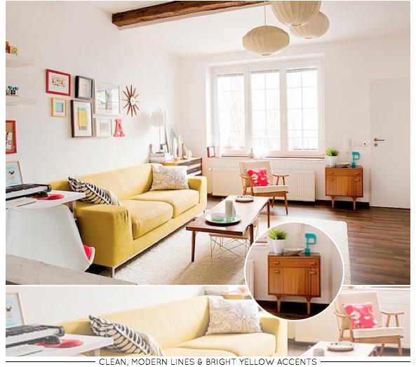 Mid Century Modern Living Room – Bright.