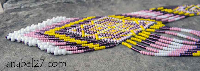 seed bead jewelry split loom necklace beadwork beading