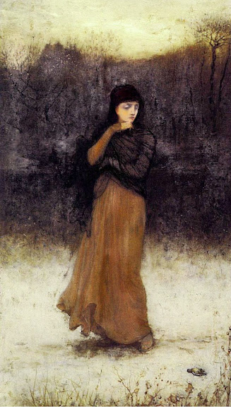 George Henry Boughton - A Wintry Contemplation