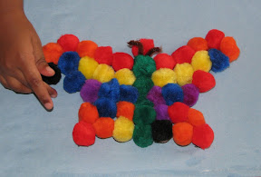 Magnetic Pom Pom Butterfly