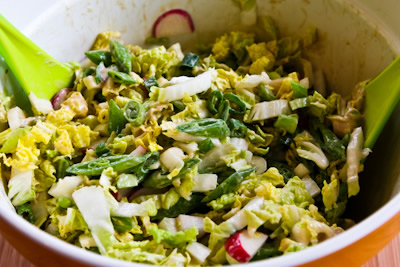 asian slaw with sugar snap peas radishes crunchy napa cabbage asian ...
