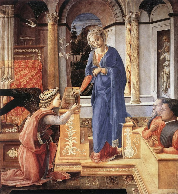 Fra Filippo Lippi - Annunciation with two Kneeling Donors