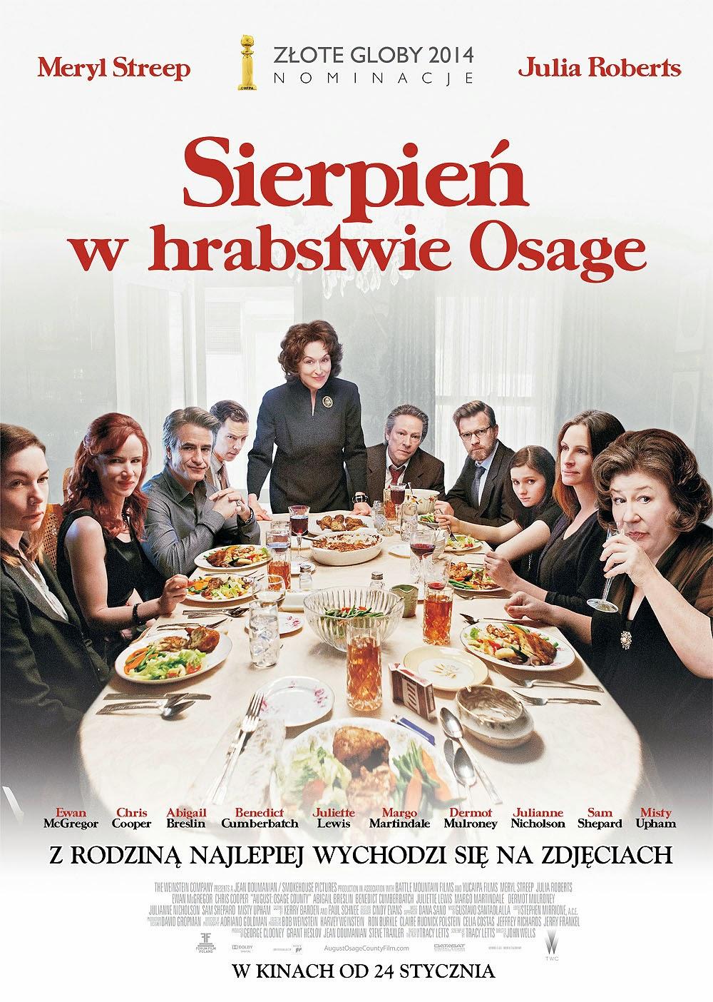 Polski plakat filmu 'Sierpień W Hrabstwie Osage'