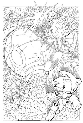 Sonic X coloring book