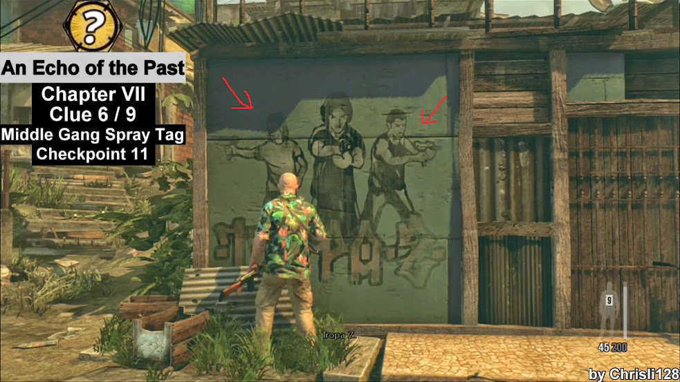 Chapter VII - Clue 6 - Middle Gang Spray Tag