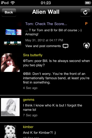 "BTK App UPDATE: Tom: ""Check The Score…T for Tom and B for Bill of course :-) Amazing!"""