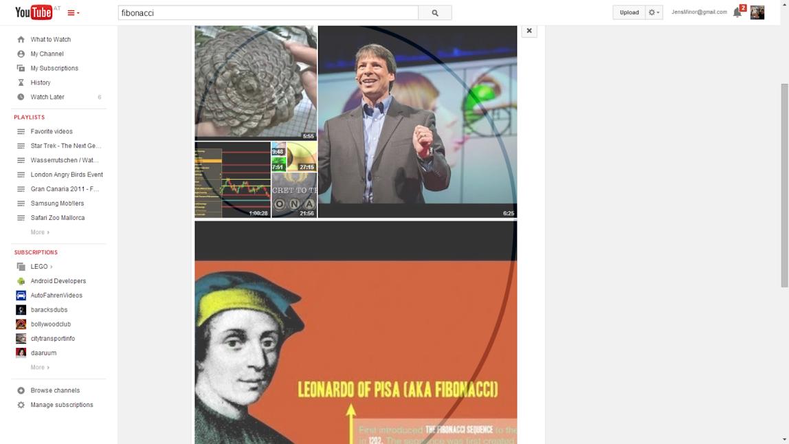 YouTube Fibonacci