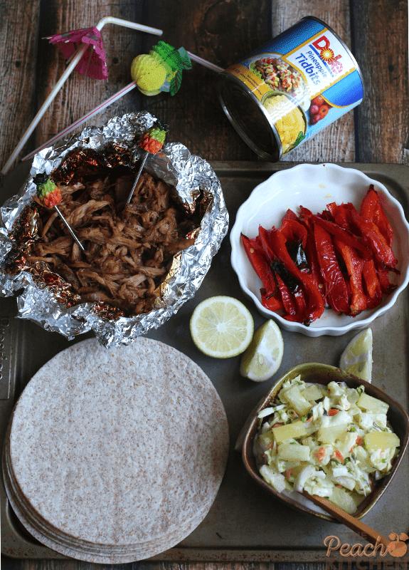 Hawaiian Pulled Pork Recipe: Hawaiian Pulled Pork Tacos + Pineapple Slaw