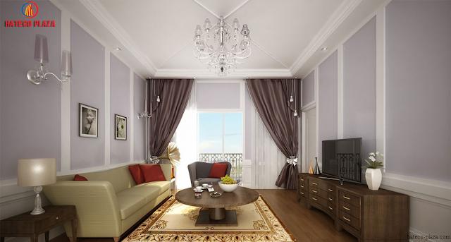 Phòng khách chung cư Hateco Plaza