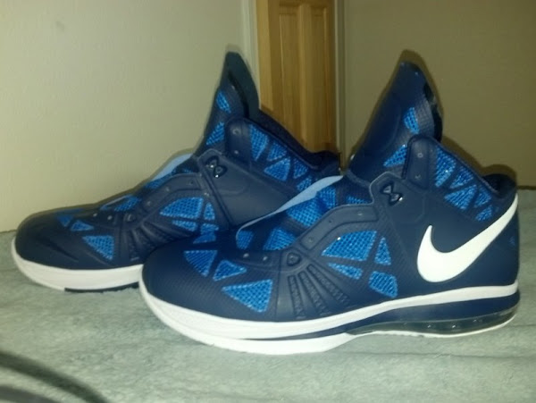 PE Spotlight Nike LeBron 8 8220Post Season8221 Navy PE