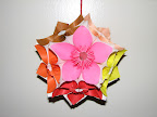 Kusudama of flowers.