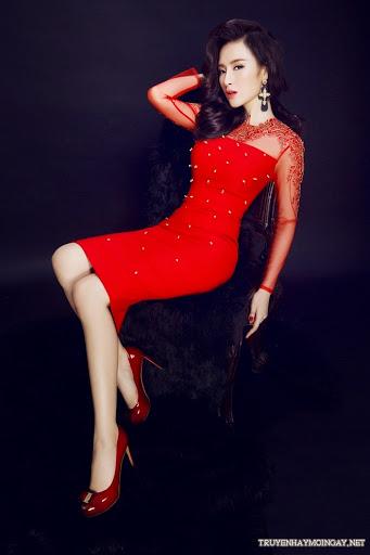 Angela Phương Trinh Sexy Trong Sắc Màu Đỏ Rực