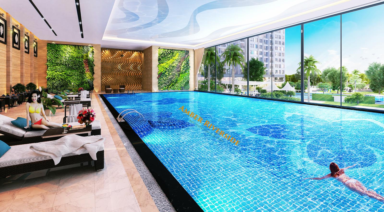 Bể bơi trong nhà dự án 622 Minh Khai