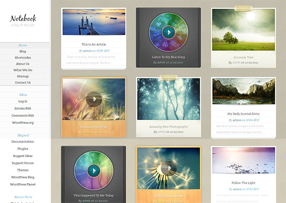 Notebook Responsive WordPress Theme
