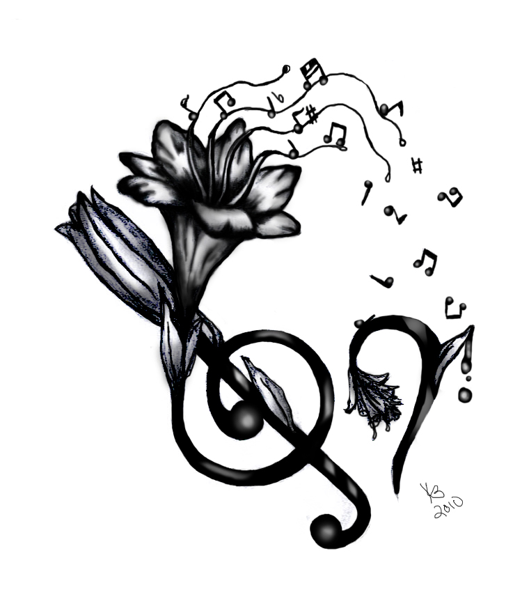 Drawing of Music Notes Tattoos Music Note Tattoo Drawing de