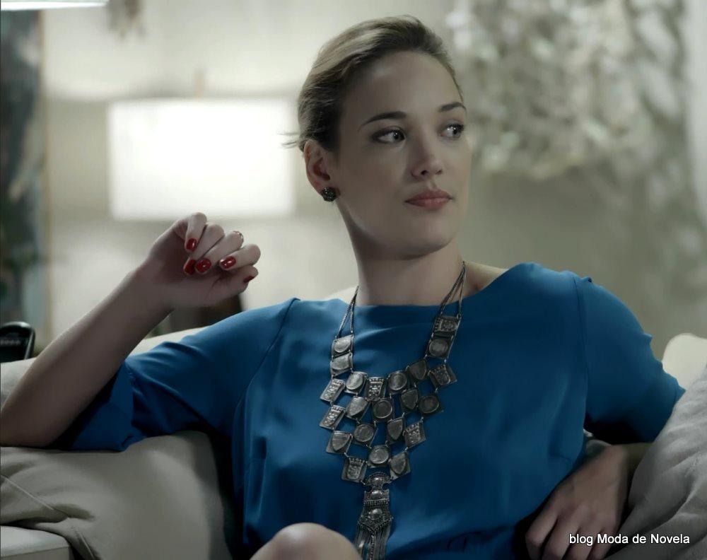 moda da novela Império, look da Amanda dia 6 de janeiro