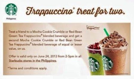 free grub, beverages, Starbucks