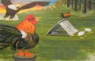 El aguila y los gallos
