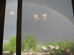 This rainstorm left a gateway rainbow behind - little did I know I'd catch up to the storm the next day