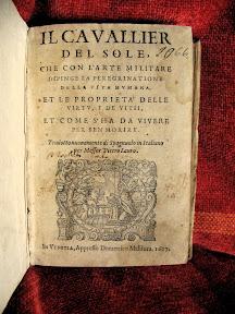 Portada renacentista con la marca de impresor de Domenico Maldura, la Anunciación de la Virgen