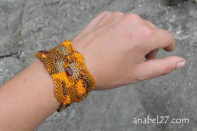freeform bracelet beadwork peyote anabel beadweaving