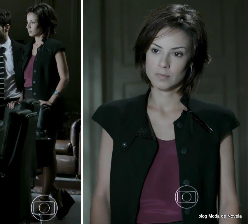 moda da novela Império, look da Maria Clara dia 9 de novembro