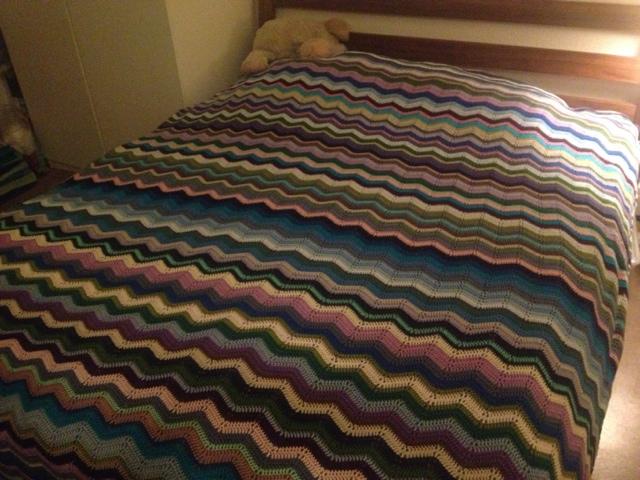 Mit hæklede sengetæppe