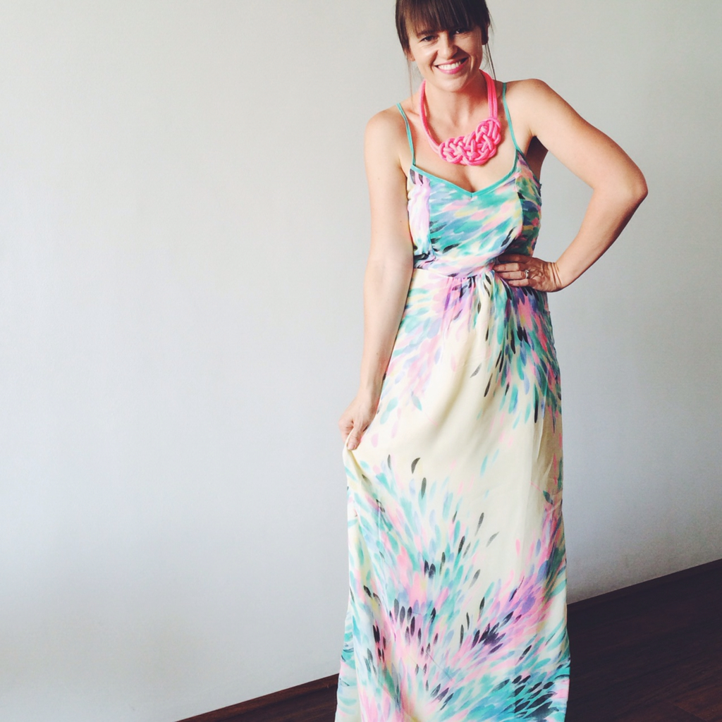Pastel Maxi Dress | What I Wore - Pretty Chuffed
