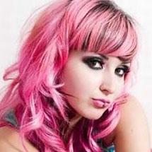 Cabelo colorido - rosa