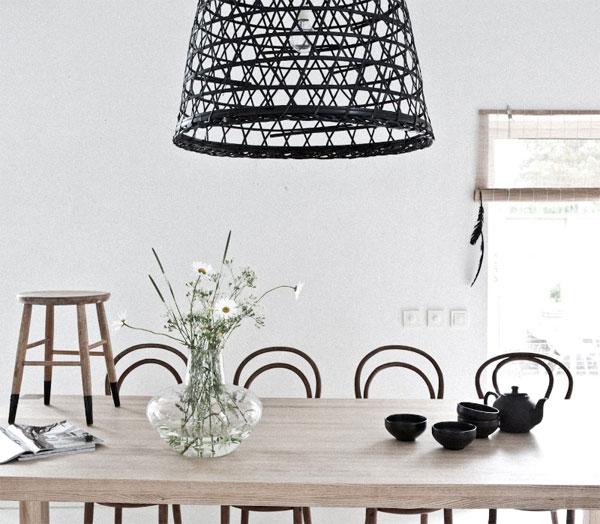 Convertir una cesta en una lampara