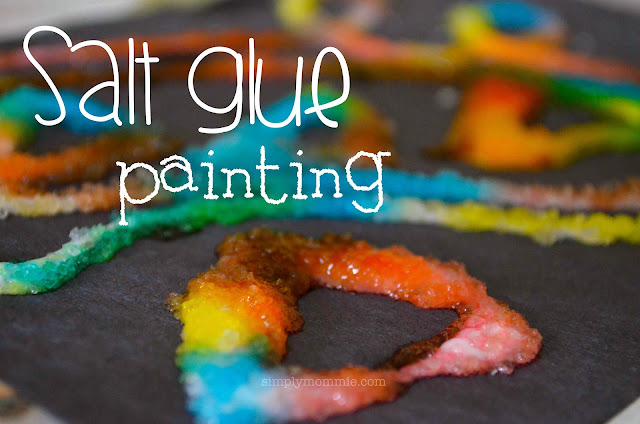 salt glue painting