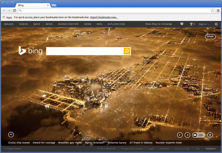 Bing Chrome Canary New Tab
