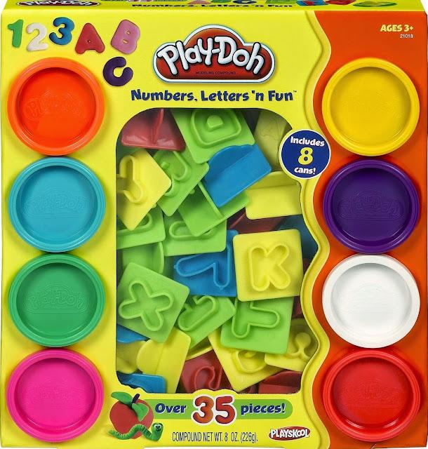 Bộ bột nặn chữ số vui nhộn PlayDoh 21018 cho bé vừa chơi vừa học