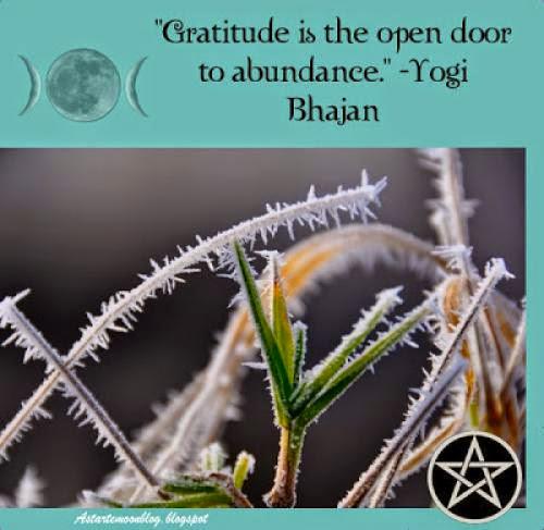 Gratitude Is The Open Door To Abundance Yogi Bhajan Quote