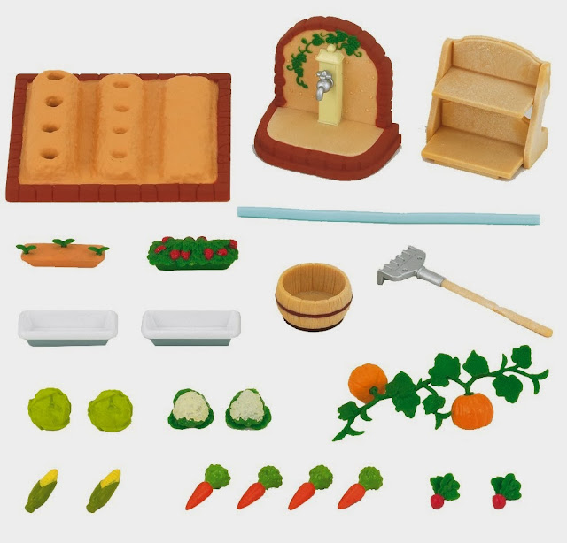 mô hình Vegetable Garden Set thú bông Epoch