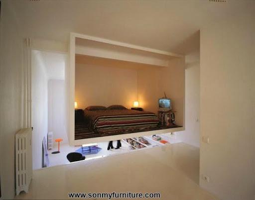 Mẫu thiết kế cho phòng ngủ vẫn đẹp trong nhà chật-3