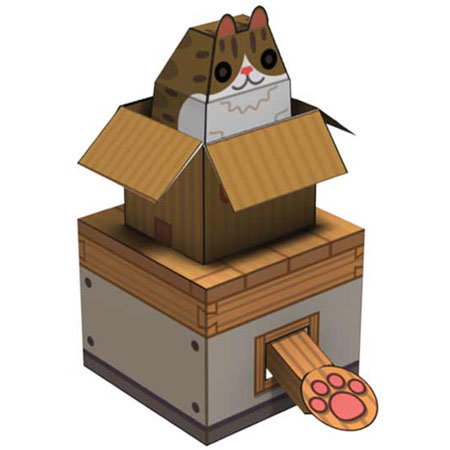 Internet Box Cat Papercraft