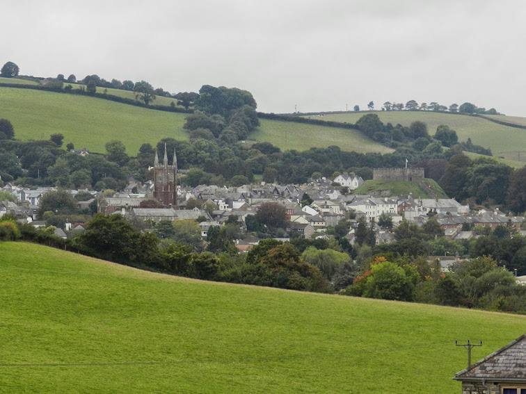 View of Totnes Devon