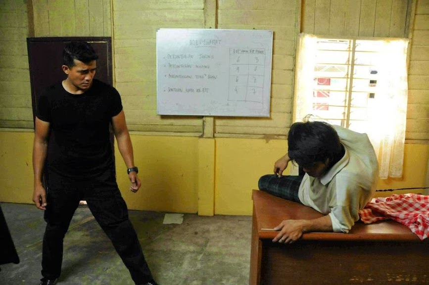 Aaron Aziz fight scene