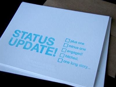 status update greeting card
