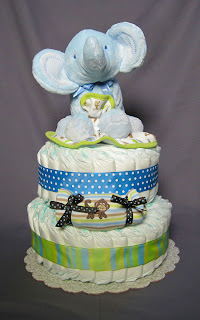 Elephant Safari Diaper Cake