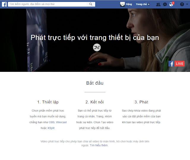 Đã có thể stream facebook trực tiếp trên trang cá nhân bằng máy tính