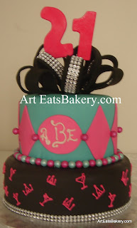 Women And Teens Birthday  Bridal Cakes Art Eats Bakery - Monogram birthday cakes