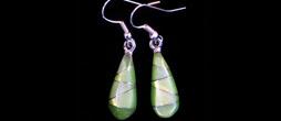 Tiny Pearlstone Mosaic Drop Earrings | ED-3-066