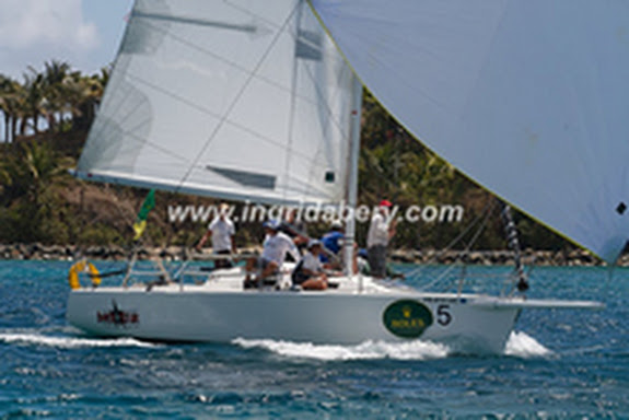 J/105 Dark Star sailing Rolex Cup St Thomas, USVI