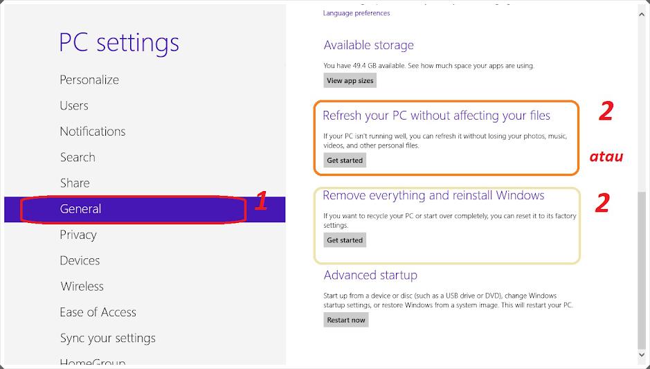 Memperbaiki Windows 8 Tanpa di Inul
