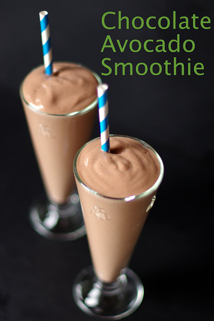 Chocolate Avocado Smoothie withintekitchen.blogspot.com