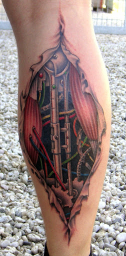 bio mechanical tattoo
